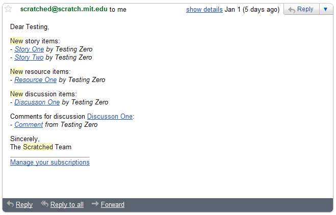 Email notifications: New features and request for testing help ...